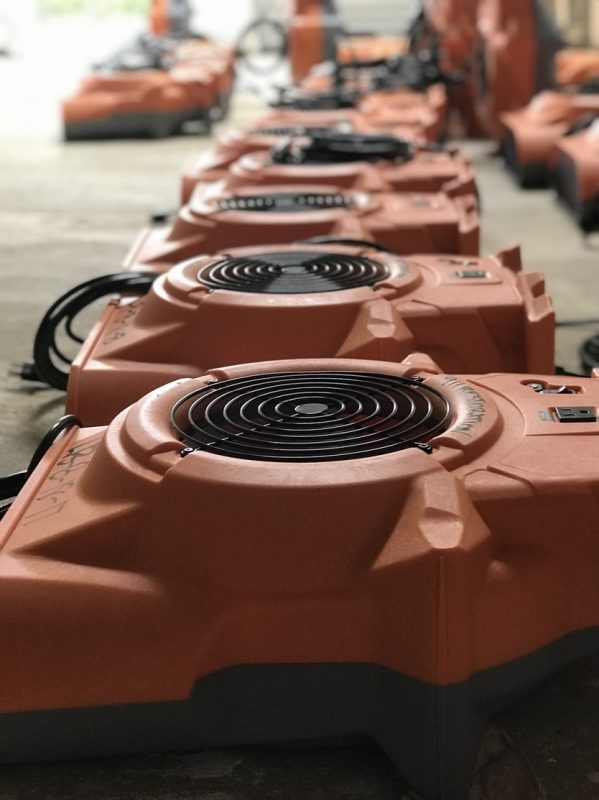 Drying equipment for mold removal and water damage