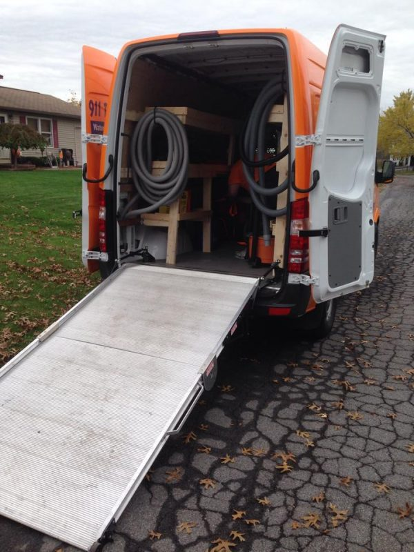 911 Restoration supply van